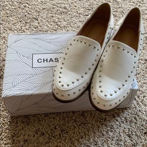 Chase + Chloe Cara Loafer White Size 8